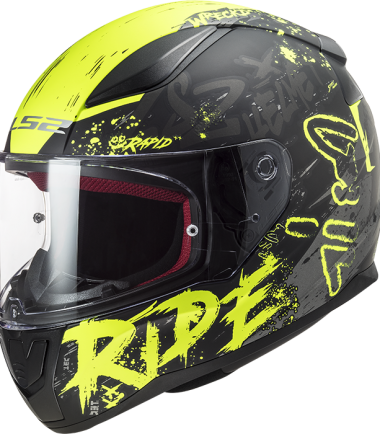 FF353 RAPID Naughty black yellow casco integral road touring