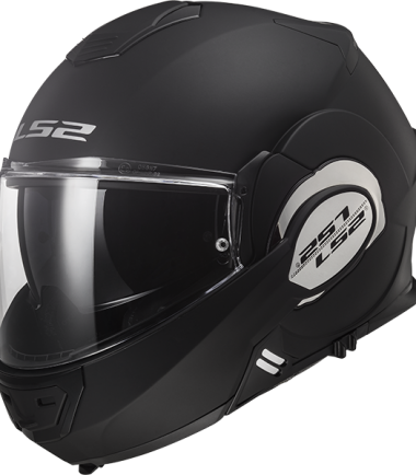 VALIANT FF399 URBAN COMMUTER LS2 Casco comvert/flip back negro mate